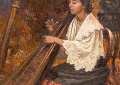 Lady with a Harp